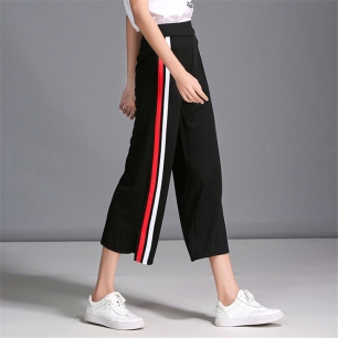 2017-Summer-Fashion-Chic-Side-stripe-Pants-Women-Hit-Color-Casual-Pantalon-Femme-Lady-Loose-Wide
